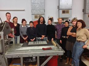 melbourne printmaking in workshop